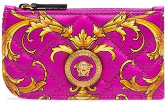 Versace Icon Baroque quilted leather card holder