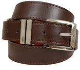 Yours Clothing BadRhino Mens Accessories Plus Size Plain Bonded Leather Jean Belt Brown