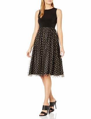 Calvin Klein Women's Sleeveless Midi with Tulle Skirt