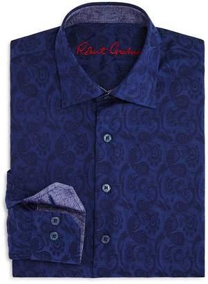 Robert Graham Boys' Paisley Dress Shirt - Big Kid