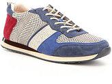 Antonio Melani Edson Mixed Media Color Block Lace-Up Sneakers