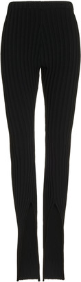Boyarovskaya Cutout Ribbed-Knit Leggings
