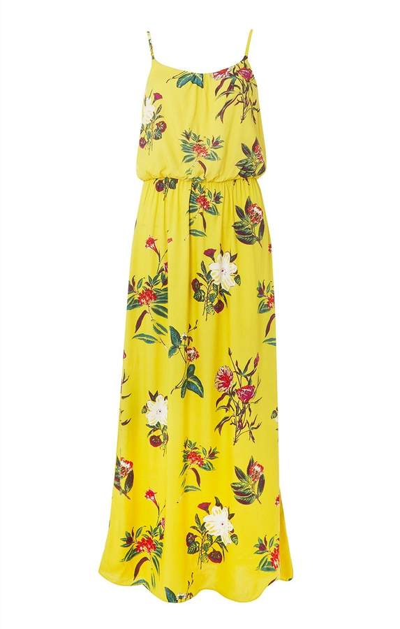 Dorothy Perkins Womens **Only Yellow Floral Print Maxi Dress
