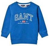 Gant Bright Blue Embroidered Branded Sweatshirt