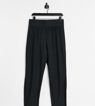 ASOS DESIGN Curve deep waistband legging in matte disco in black