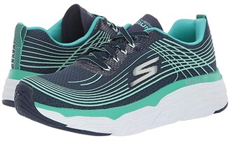 Skechers Max Cushion - 17693 (Navy/Turquoise) Women's Shoes