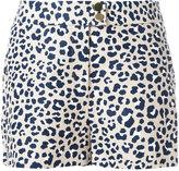 MICHAEL Michael Kors leopard print shorts - women - Linen/Flax/Acetate - 2