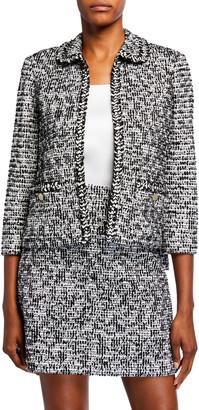 St. John Modern Statement Tweed Blazer
