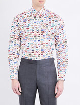 Eton Butterlfy-print contemporary-fit cotton shirt