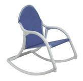 Hoohobbers Denim Canvas Personalized Kids Rocking Chair
