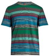 Missoni Multi-striped Patch-pocket Cotton T-shirt