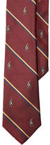 Ralph Lauren Pony Striped Silk Repp Tie