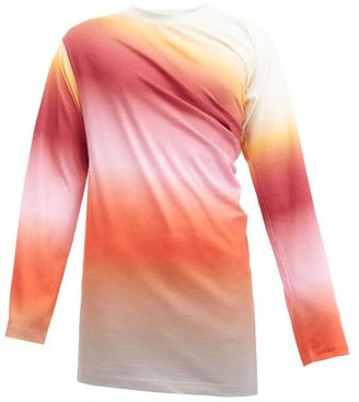 Y/Project Twisted Gradient-cotton Long-sleeved T-shirt - Multi