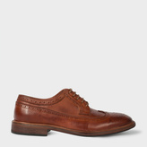 Paul Smith Men's Dip-Dyed Chestnut Brown Leather 'Malloy' Brogues