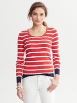 Banana Republic Striped Scoopneck Sweater