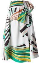 Emilio Pucci printed A-line skirt - women - Cotton/Spandex/Elastane - 38