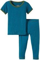 Kickee Pants Pajama Set (Baby) - Oasis/Moss - 3-6 Months