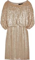 Jenny Packham Cape-Effect Sequined Silk Mini Dress