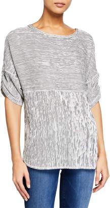 Max Studio Striped Knit Tunic Top