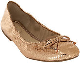 Marc Fisher Metallic Ballet Flats w/ Bow Accent Calendre