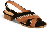 Jack Rogers Amelia Stitched Suede City Sandals