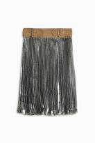 3.1 Phillip Lim Metallic Pleated Skirt
