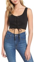 Soprano Women's Lace-Up Crop Top