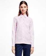 Brooks Brothers Scallop-Edge Cotton Dobby Shirt