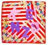Kenzo Silk Floral Print Scarf