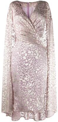 Talbot Runhof Draped Metallic Dress