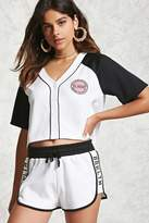 Forever 21 Classic Patch Raglan Jersey Tee
