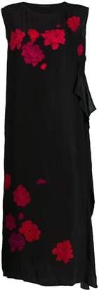 Yohji Yamamoto floral print shift dress