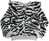 Kenzo Tiger Flocked Print Cotton Sweatshirt