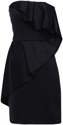 Lanvin Strapless Draped Scuba Mini Dress