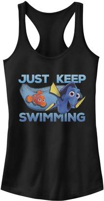 Junior's Disney/Pixar Finding Dory Nemo Just Keep Swimming Racerback Tank