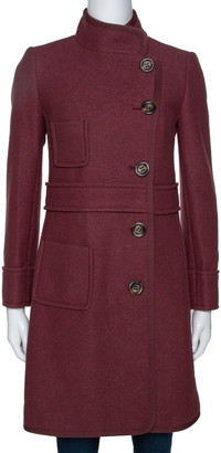 M Missoni Pastel Red Fleece Wool Coat S