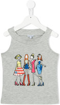 Simonetta girls print tank top - kids - Cotton/Modal - 4 yrs