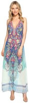 Hale Bob Supercharged Microfiber Chiffon Maxi Dress