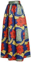 BYY Floral African Print Navy Maxi Skirt(,M)