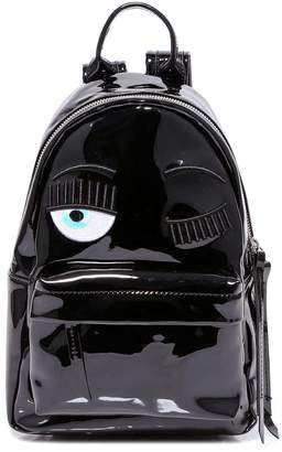 Chiara Ferragni Eye Applique Top Handle Zipped Backpack