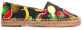 Dolce & Gabbana tropical print espadrilles - women - Cotton/Leather/Viscose - 36