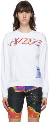 McQ White Arcade Embroidered Sweatshirt