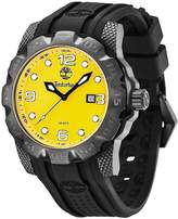 Timberland Men's Belknap Rubber Strap Watch, 44mm