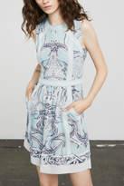 BCBGMAXAZRIA Donatela Paisley-Print Dress