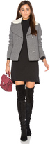 BA&SH ba & sh Leonor Faux Sherpa Lined Coat