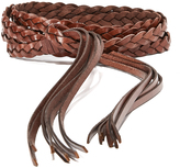 Rebecca Minkoff Flat Leather Belt with Knotted Tassels
