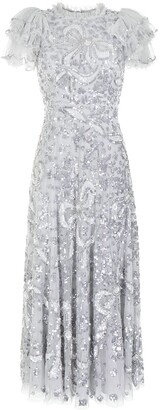 Needle & Thread Shirley Ribbon embellished ankle-length gown