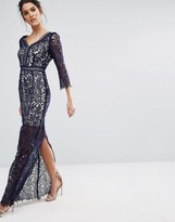 Little Mistress Lace Maxi Dress