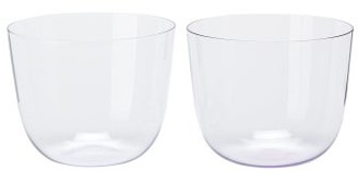 Lobmeyr Alpha Set Of Two Crystal Tumblers - Purple