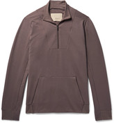 Zimmerli Fleece-Back Stretch-Cotton Jersey Half-Zip Sweatshirt